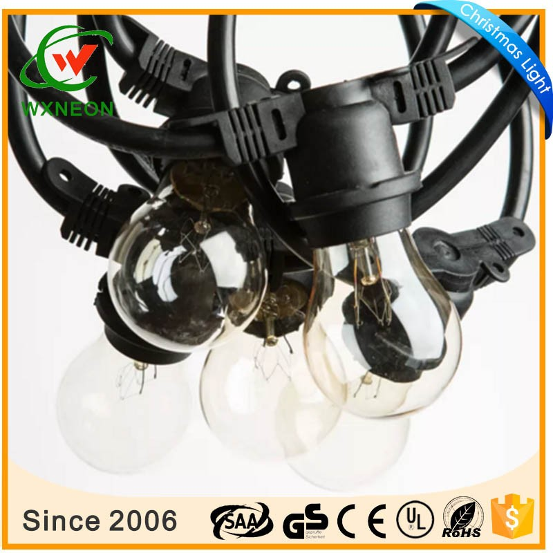 100ft 50 socket 2X1.5MM2 wire light outdoor party e27