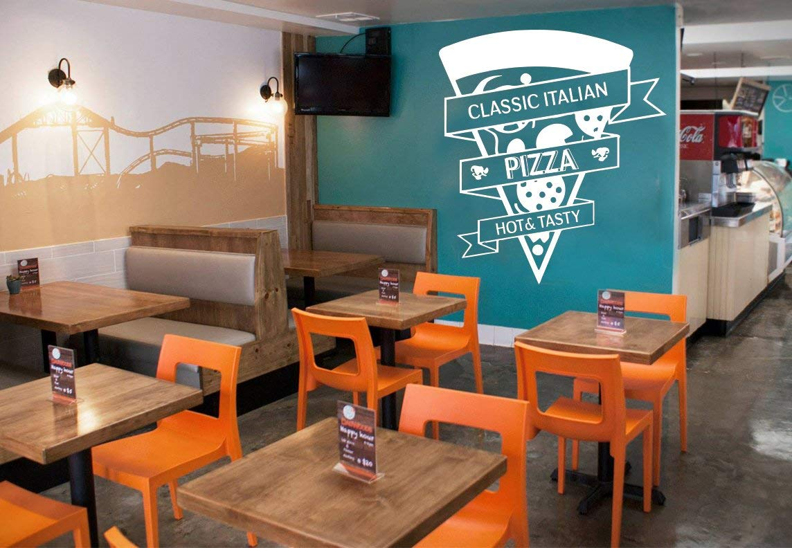 Get Quotations Pizza Wall Decal Vinyl Pizzeria Funny Decor Art Dining Room Stickers Mural 664RE