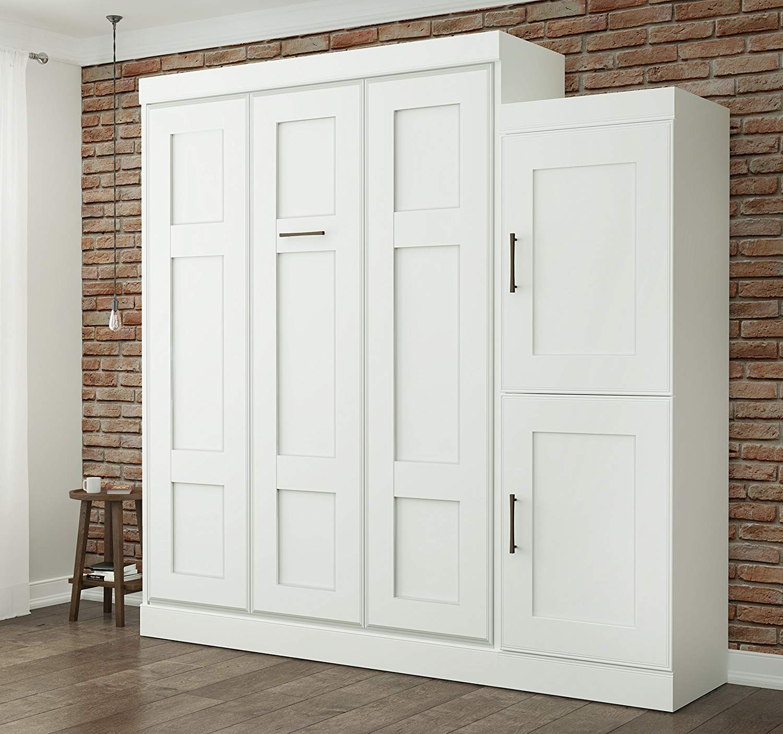 Superbe Get Quotations · Bestar Edge Queen Wall Bed With 2 Door Storage Unit In  White