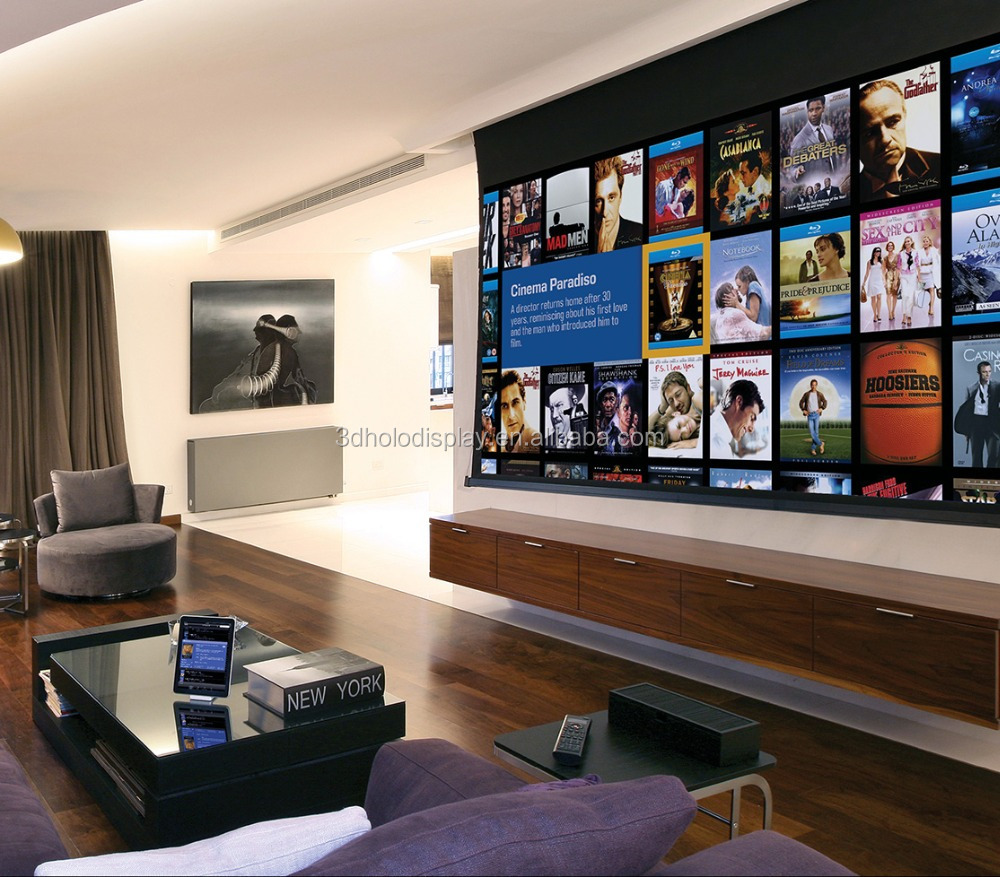 16 9 200 Inch Home Theater System Thearter Drop Down Electric Screen Motorized Projector