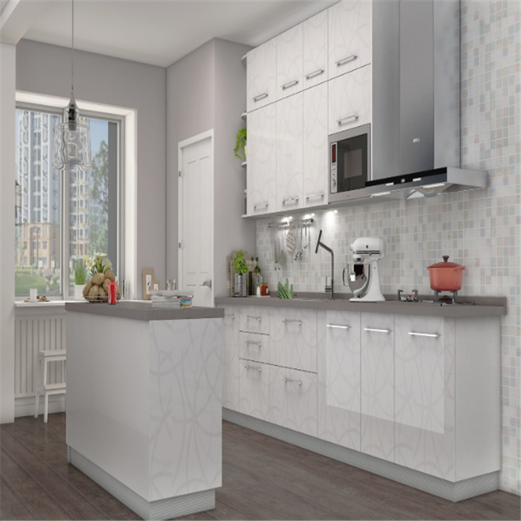 White Off The Shelf Kitchen Cabinets Built In Cupboards With Stainless Steel Sink