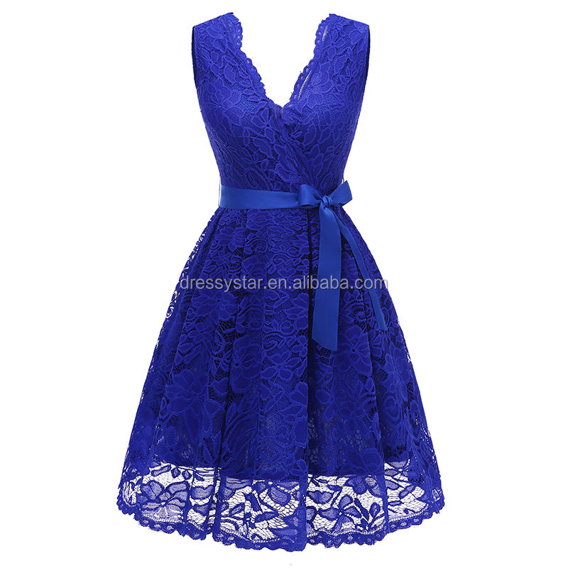 Venta al por mayor traje de mujer para fiesta azul royal-Compre ...