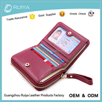 Fashion Zip Around Wallet RFID Leather Card Wallet for Women