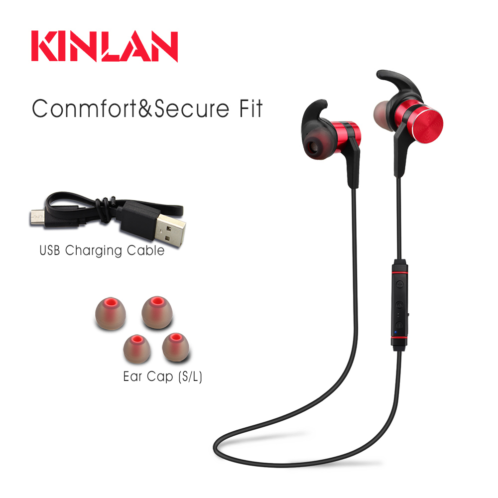 KINLAN Amazon Best Seller Stereo Spots Bluetooth Earphone with nice Bass