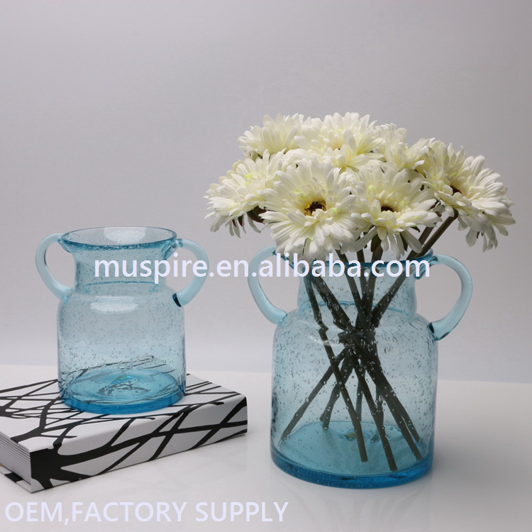 Glass Crafts_glass vase!GV109 wide top glass flower vase#zt GV109 wide top glass flower vase (1)