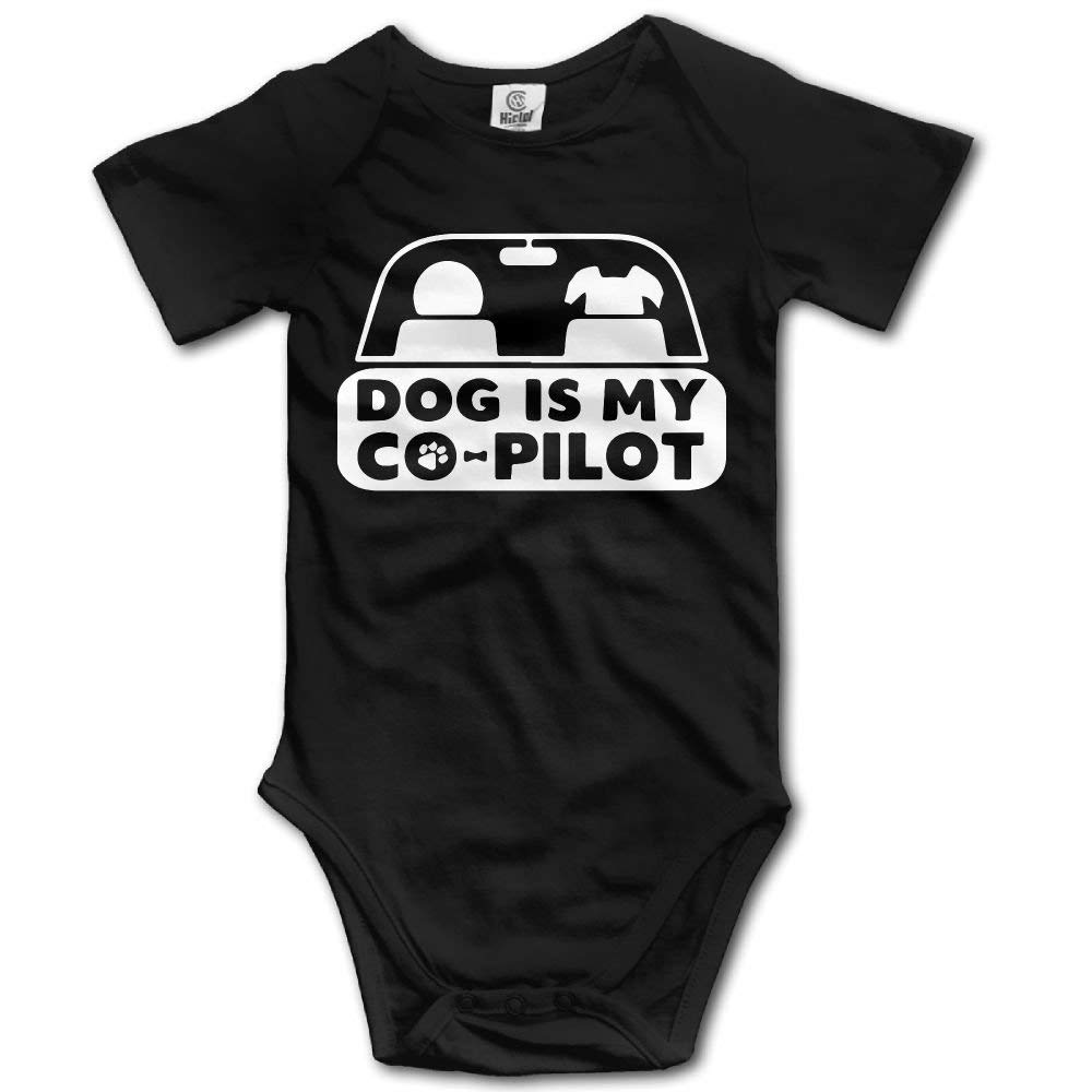 f7c85a3c1c30c Get Quotations · SmallHan My Dog is My Co-Pilot Unisex Vintage Boys   Girls  Romper Baby Girl