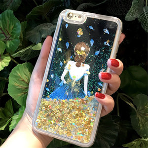 Bling Glitter Star Liquid 3D angel girl quicksand Mobile phone Case for VIVO Y85/V9
