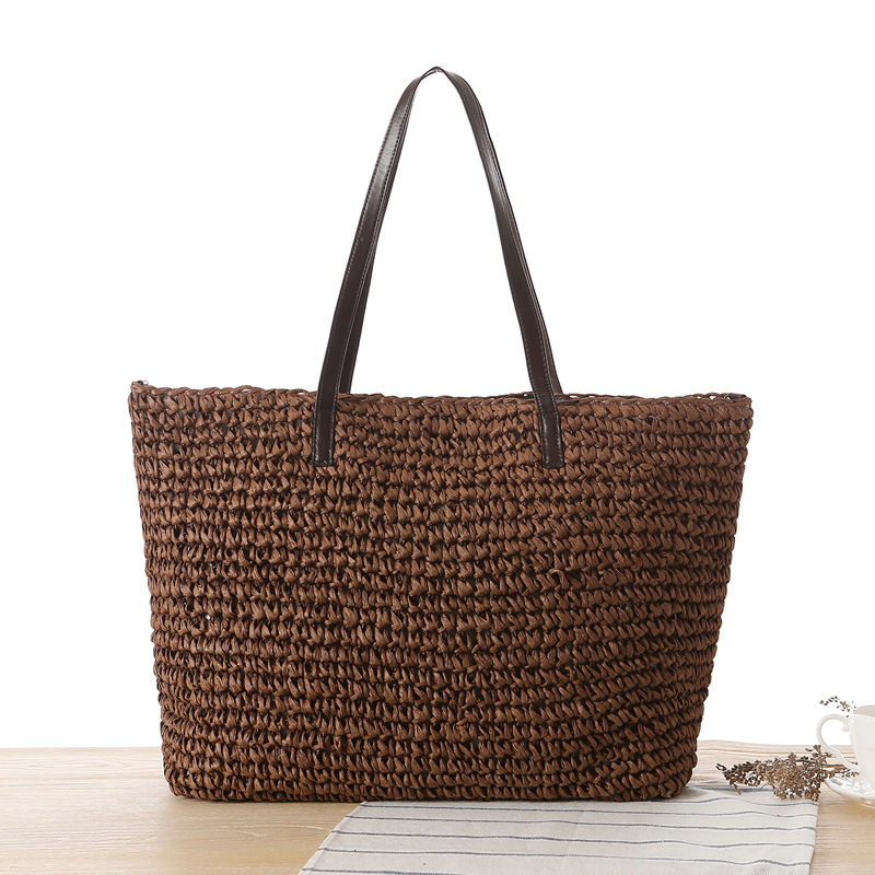 Straw beach bags for women 2015 new summer casual simple straw woven rattan tote bag bolsa feminina desigual beach bag