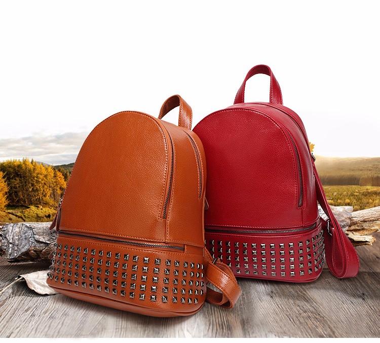 d6a5f7e5ea5 Wholesale- Rivets Backpack Women Small Backpacks For Teenage Girls Bagpack  Women s Casual Daypacks Female Backpack sac a dos femme
