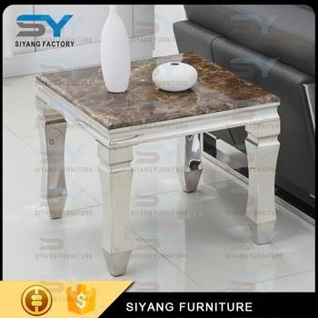 Admirable 4 Legs Marble Top Stainless Steel Coffee Table Black Square Side Table Buy 4 Legs Side Table Hand Painting Round Coffee Table With Glass Top Side Interior Design Ideas Oxytryabchikinfo