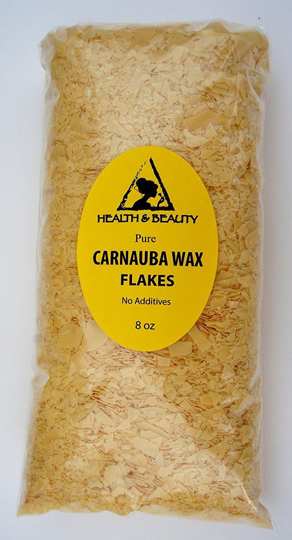 Carnauba Wax Organic Flakes Brazil Pastilles Beards Premium Prime Grade A 100% Pure 8 oz