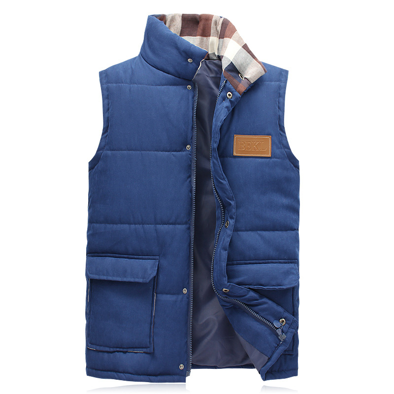 hot sale fashion men winter vest stand collar cotton ...