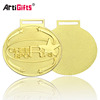 Customized Gold Plated Oval Felicitate Fiesta Christmas Medals For Kids
