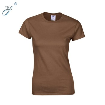 ff0d197eee5 Wholesale Oem Women s Blank T Shirt Brown T Shirts - Buy Plain No ...