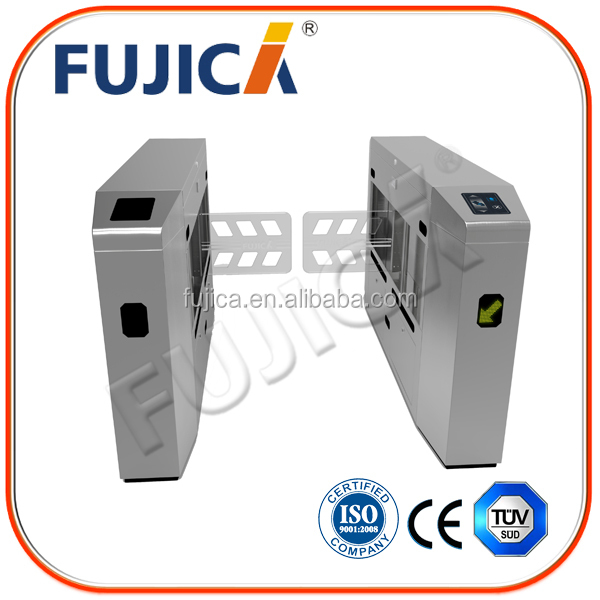 Durable automatic door entry swing turnstile security barcode system