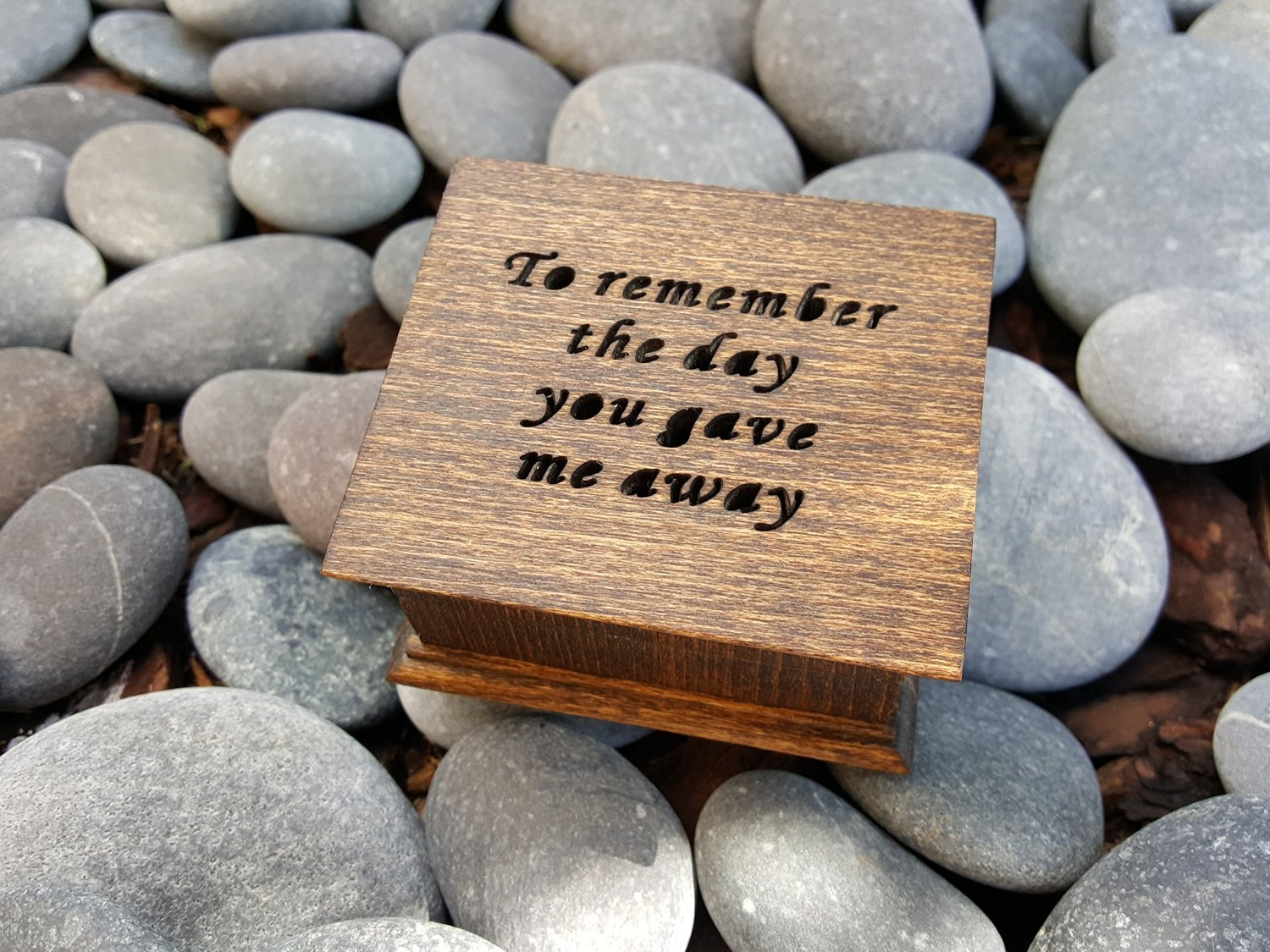 Music box handmade music box custom made music box To remember the day you gave me away simplycoolgifts Father of Bride gift gift for dad