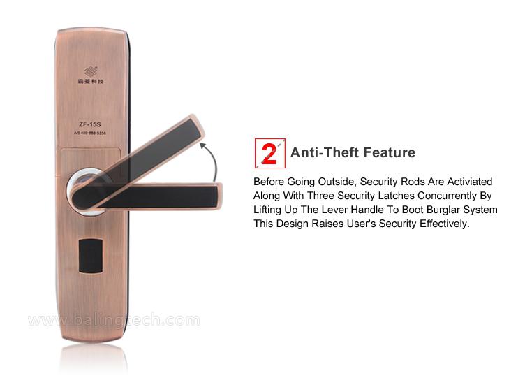 Zf-15s Biometric Fingerprint Keypad Front Door Locks Home ...