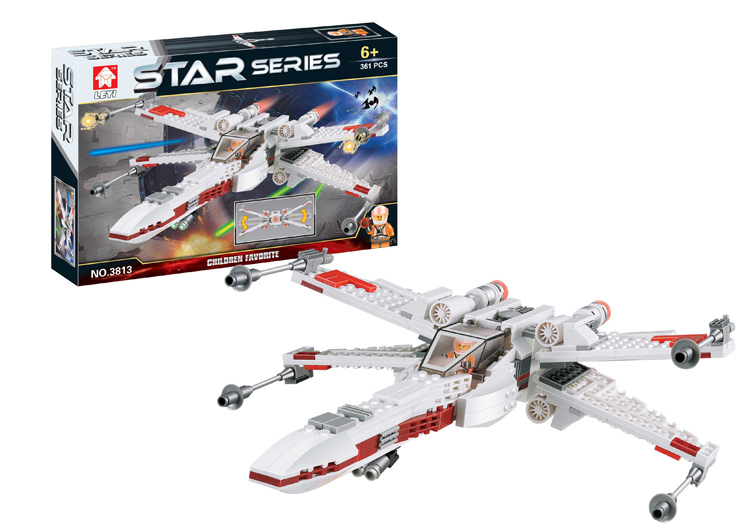 Star Wars X-Wing Fighter Blocks Compatible with Lego Star Wars Bricks Educational Toys Model Building Kits C0A580