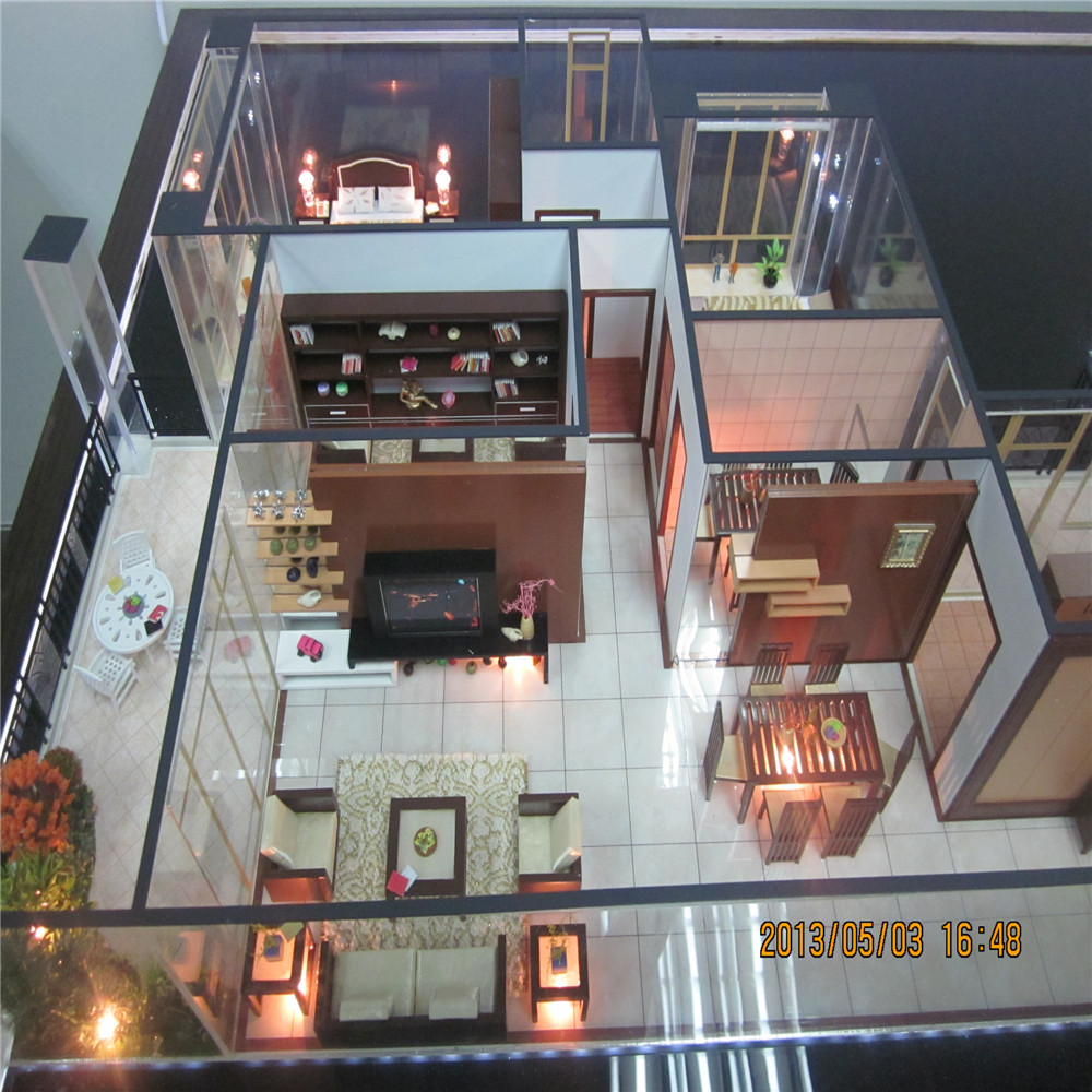 Interior mini model for customer 39 s view and exhibition for Model house building materials