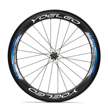YOU60C-B U Shape 25mm Blue Clincher 60mm Chinese Carbon Road Bike Wheels With Straight Pull Hub,Sapim Spokes,Ceramic Bearing