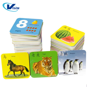 Animal English Learning Word Card Early Educational Toys For Children Game Pocket Card Kids Flash Cards