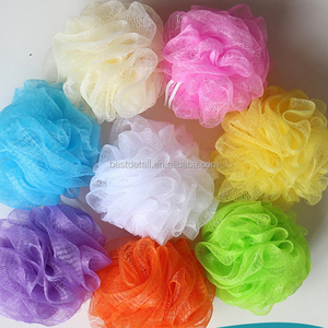 Skin Care 30g Cheap Body Scrubber Ball Exfoliating Shower Loofah Mesh Pouf Bath Sponges