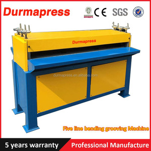 1.2*1300 electric beading grooving machine for air duct making,5 lines / 7 lines sheet metal beading machine