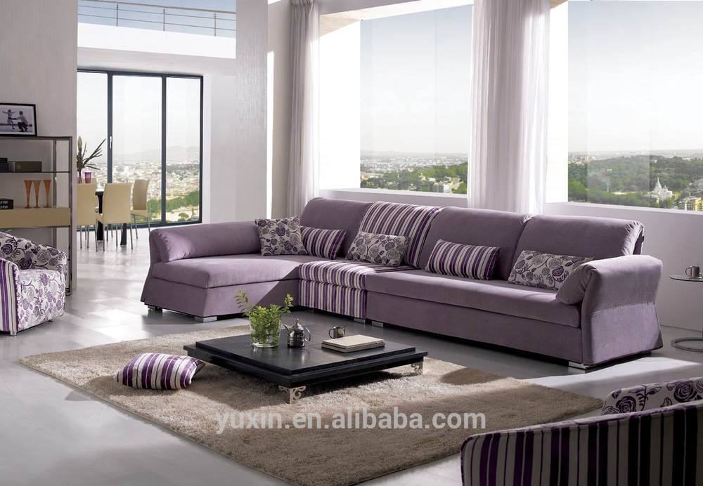 New arrival modern living room wooden furniture corner Sofa set designs for home