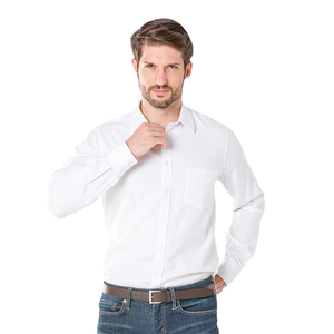 High quality business long sleeved Oxford men plain shirts