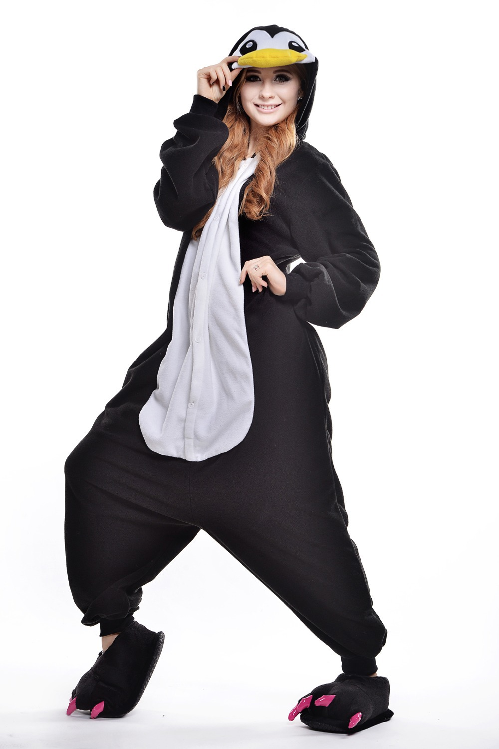340c35ad4255 Get Quotations · Penguin Onesie  Plus Size Halloween Costume for Women   Mens Onesie  onsie   Fancy