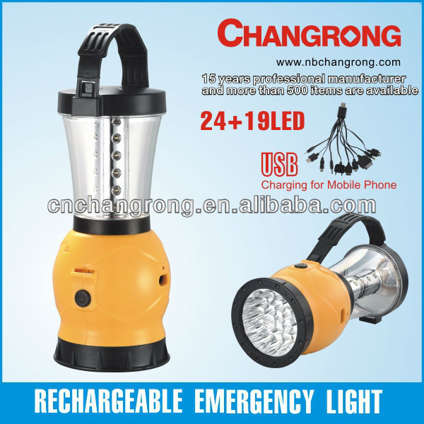 changrong rechargeable led outdoor lantern torch