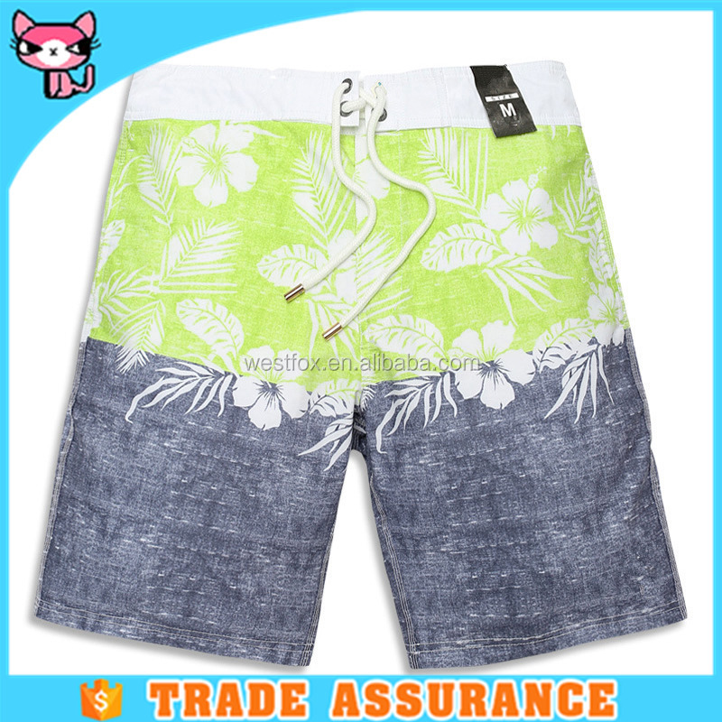OEM Service washed denim color shorts swim middle shorts for beach