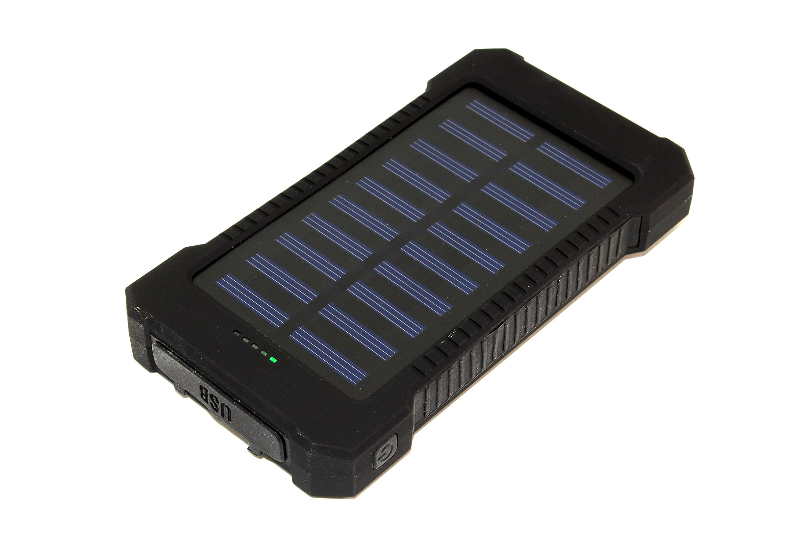 Solar Charger, Portable Solar Power Bank Charger 30000mAh External Backup Battery Pack Dual USB Solar Panel Charger with LED Flashlight for Emergency Outdoor Camping Travel (BLACK)