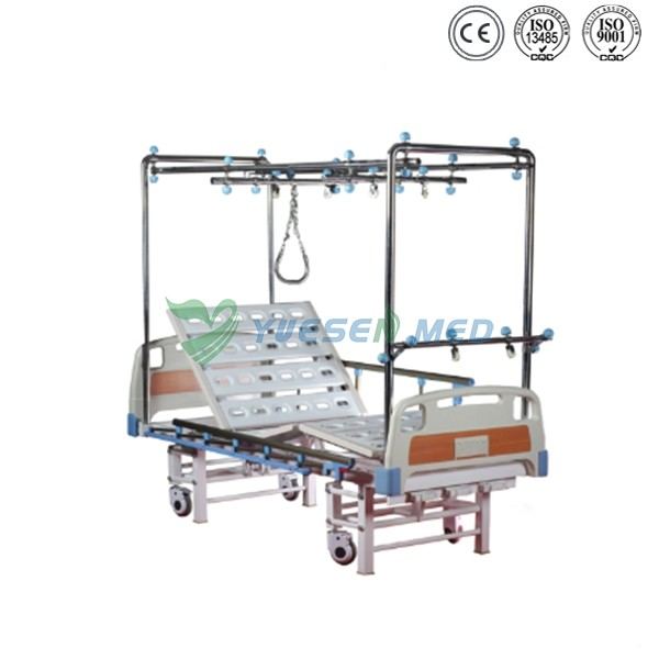 2017 best selling YSHB-QY8 CE certificate mobile Orthopedic Traction Hospital Bed low price Medical Traction Bed