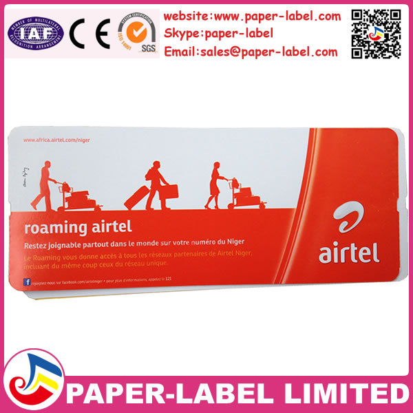 Airline boarding pass,paper airline ticket xiamen