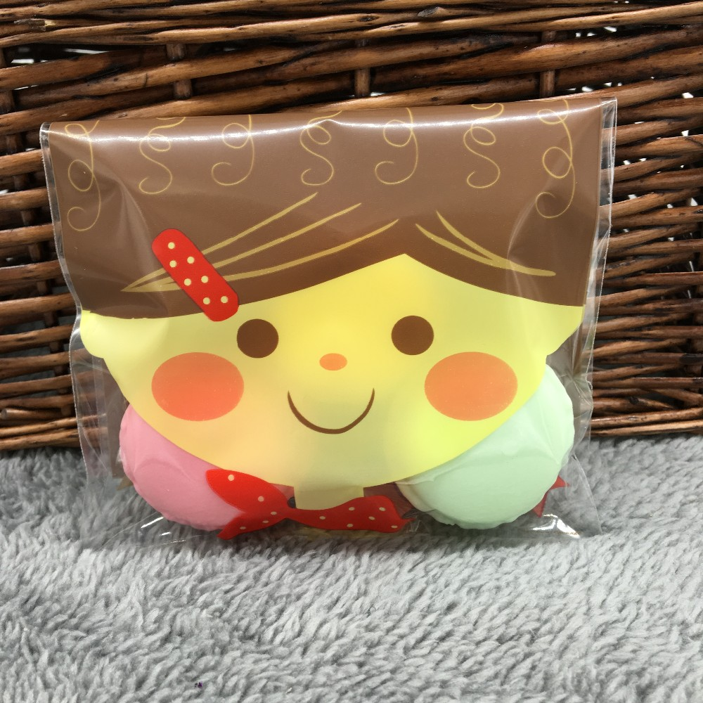 8374867d8172 50 Cute Doll Cello Cookie Bag,Bakery Gift Candy Clear Cellophane Bag, PB64  12x19cm - us477