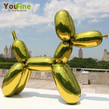 d coration de la maison en acier inoxydable statue d 39 art ballon sculpture de chien buy. Black Bedroom Furniture Sets. Home Design Ideas