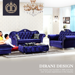 living room fancy italian furniture sofa button tufted purple velvet chesterfield sectional sofa set