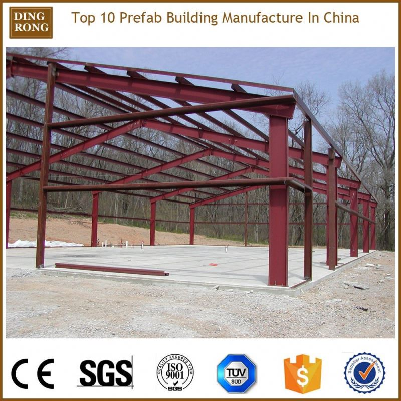 low cost prefabricated warehouse, galvanized steel trailer frame
