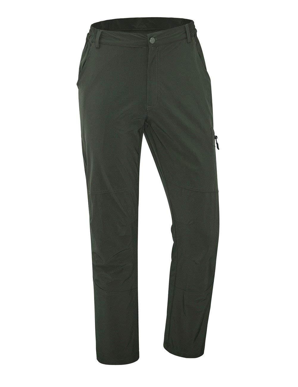 0a43b049faa Get Quotations · Hopgo Men's Waterproof Outdoor Sport Pants Quick Dry Cargo  Pants Hiking Pants With Drawstring