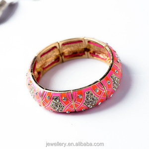 Africa Style Hot Sale Factory Price Handmade Alloy Diamond Bangle