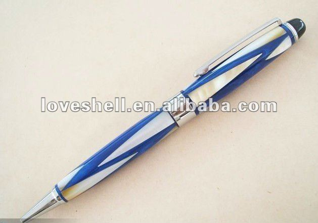 semi-precious gemstones Mother of pearl Handmade Roller ball Point Pen