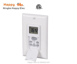 120VAC, 60Hz, USA type plug, digital weekly timer,In-wall Timer