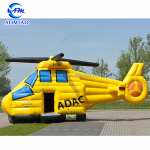 Custom Inflatable Christmas Helicopter Bouncy Castle For Sale