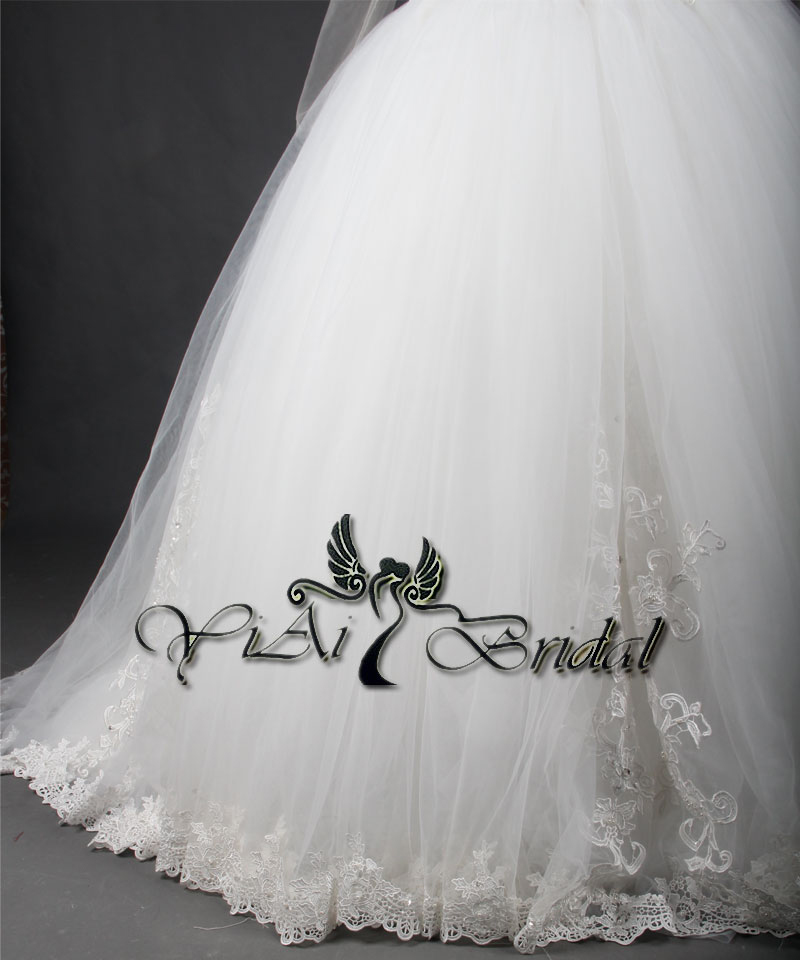 Rsw714 Long Sleeve See Through Corset Puffy Princess Ball Gown ...