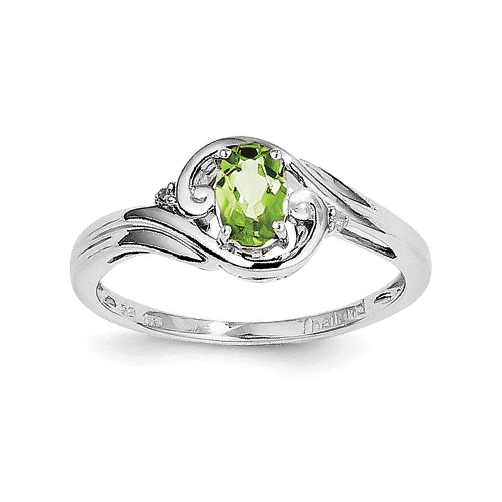 Jewelry Adviser Rings 14k 7x5mm Oval Peridot ring