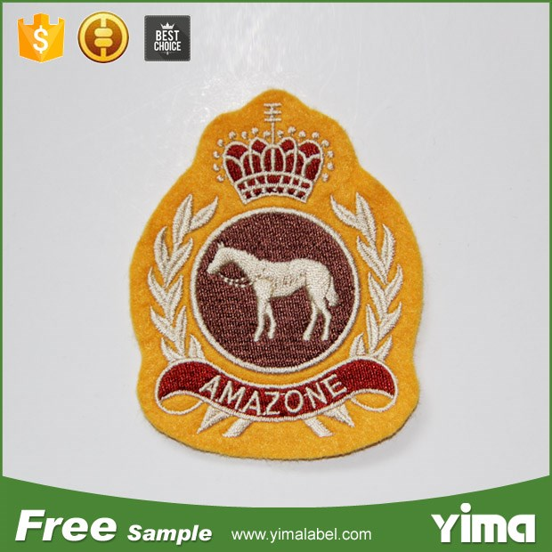 Custom embroidery brand name logo patch for clothing