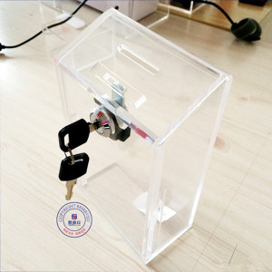 Beauty Clear Acrylic Cosmetic Suggestion Box/Charity Box Display Case Wholesale