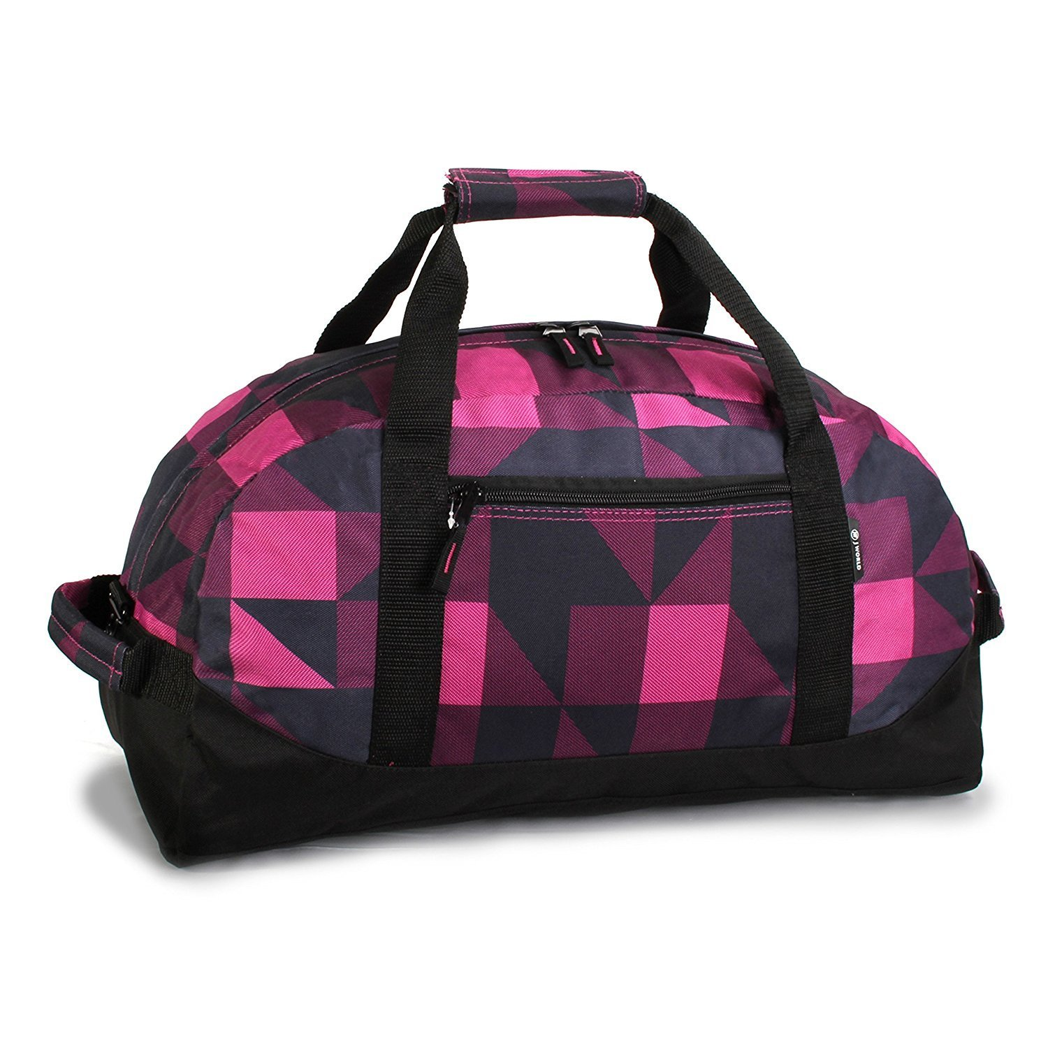 f512941871 Get Quotations · Pink Black Girls 30Inch Block Checkered Sports Pattern  Oversize Carry Rolling Upright Duffle Bag