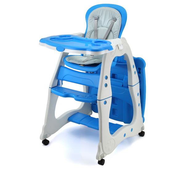 Good Removable Baby Chair Eating With Four Wheels